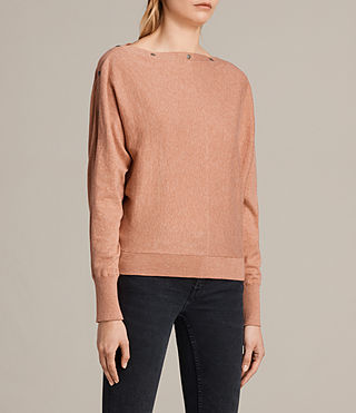 Womens Elle Sweater (CORAL PINK) - product_image_alt_text_4