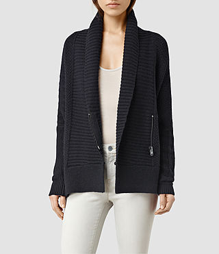 Womens Riley Cardigan (Ink Blue)