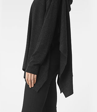 Femmes Pull façon poncho Metta (Cinder Black Marl) - product_image_alt_text_2
