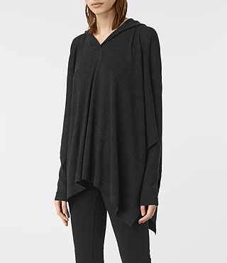 Femmes Pull façon poncho Metta (Cinder Black Marl) - product_image_alt_text_3