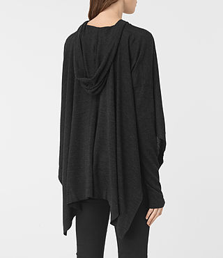 Femmes Pull façon poncho Metta (Cinder Black Marl) - product_image_alt_text_4