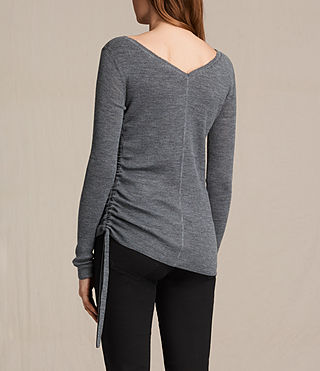Women's Vana Crew Neck Top (CHARCOAL GREY MARL) - product_image_alt_text_4