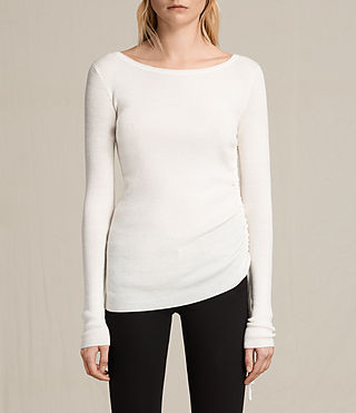 Women's Vana Crew Neck Top (CLOUD WHITE)