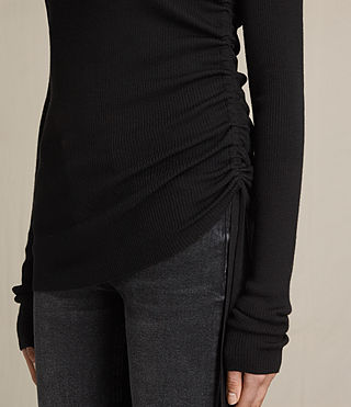 Mujer Vana Crew Neck Top (Black) - product_image_alt_text_2