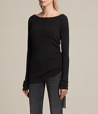 Mujer Vana Crew Neck Top (Black) - product_image_alt_text_3