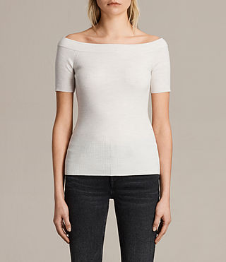 Damen Lavine Top (ECRU WHITE) -