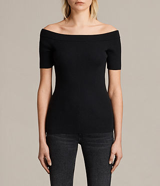 Women's Lavine Top (Black) -
