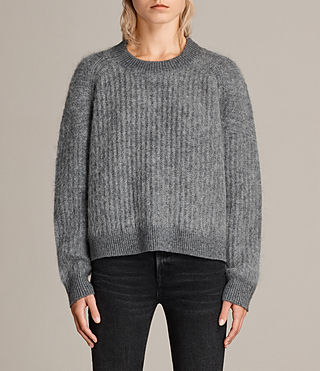 Womens Ade Cropped Sweater (Grey Marl) - product_image_alt_text_1