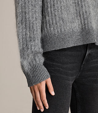Womens Ade Cropped Sweater (Grey Marl) - product_image_alt_text_2