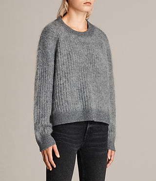 Womens Ade Cropped Sweater (Grey Marl) - product_image_alt_text_3