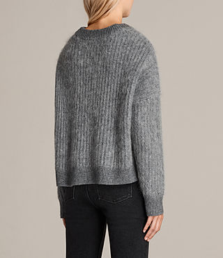 Womens Ade Cropped Sweater (Grey Marl) - product_image_alt_text_4