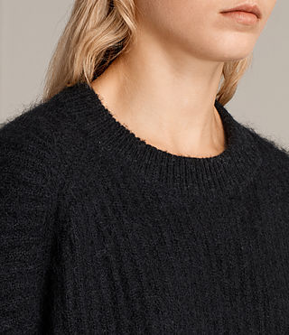 Womens Ade Cropped Sweater (Black) - product_image_alt_text_2