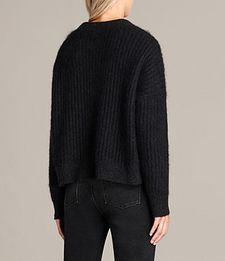 Womens Ade Cropped Sweater (Black) - product_image_alt_text_4