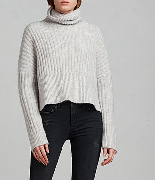 Damen Pico Pullover (Light Grey) - Image 1