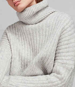 Damen Pico Pullover (Light Grey) - Image 2