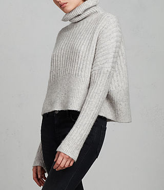 Damen Pico Pullover (Light Grey) - Image 3