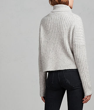 Damen Pico Pullover (Light Grey) - Image 5