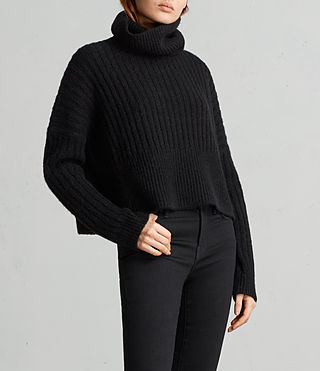 Women's Pico Jumper (Black) - Image 3