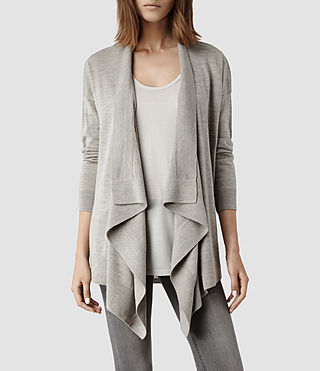 Womens Novara Cardigan (Cement)