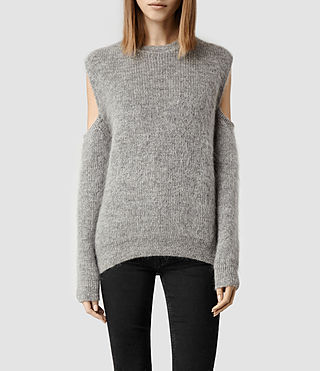 Womens Haff Jumper (Grey Marl)