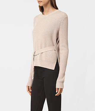 Womens East Sweater (Sandstone Pink) - product_image_alt_text_2