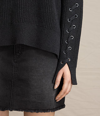 Womens Aria Laced Sweater (Cinder Black Marl) - product_image_alt_text_2