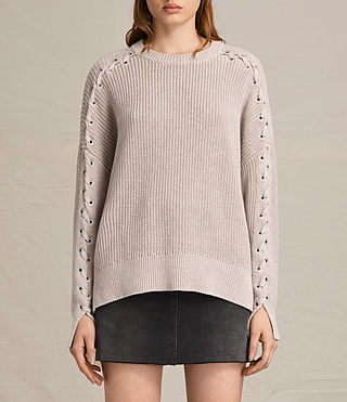 Womens Aria Laced Sweater (NUDE PINK)