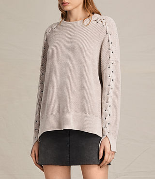 Womens Aria Laced Sweater (NUDE PINK) - product_image_alt_text_3