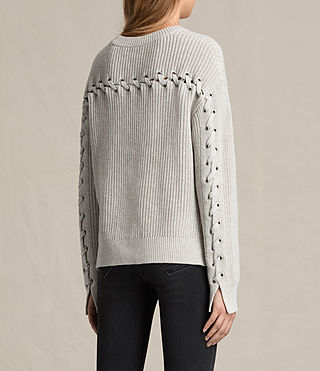 Women's Aria Laced Short Jumper (Ash Grey) - product_image_alt_text_3