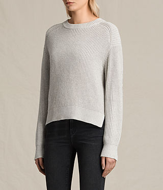 Women's Aria Laced Short Jumper (Ash Grey) - product_image_alt_text_4
