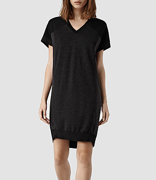 Womens Calvo Sweater Dress (Black/Cinder)