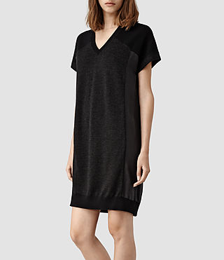 Womens Calvo Sweater Dress (Black/Cinder) - product_image_alt_text_2