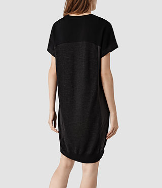 Womens Calvo Sweater Dress (Black/Cinder) - product_image_alt_text_3