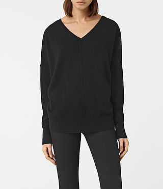 Mujer Mather Cashmere Sweater (Black) - product_image_alt_text_1