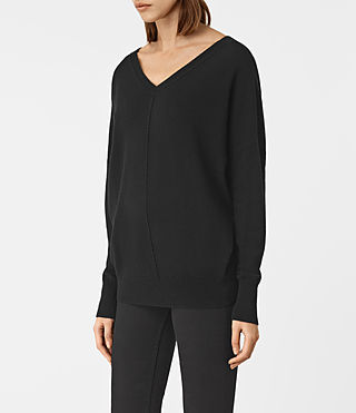 Womens Mather Cashmere Sweater (Black) - product_image_alt_text_2