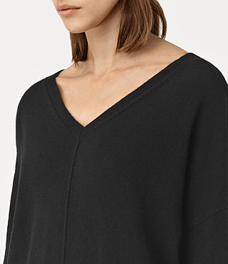 Womens Mather Cashmere Sweater (Black) - product_image_alt_text_3