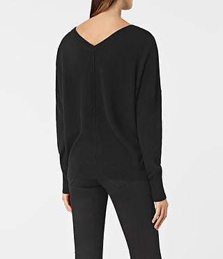 Womens Mather Cashmere Sweater (Black) - product_image_alt_text_4
