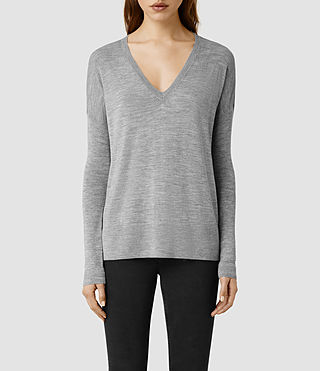 Womens Uma Sweater (Grey Marl)