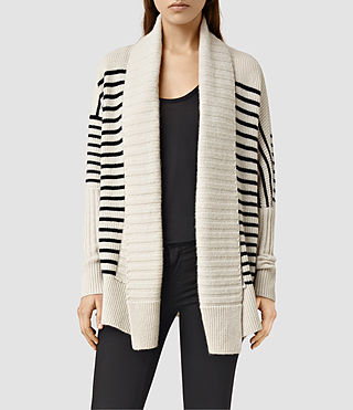 Womens Thorp Cardigan (PORC WHT/INK BLUE)