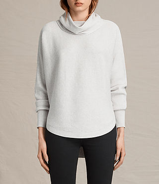Womens Rio Roll Neck Sweater (Ash Grey) - product_image_alt_text_1