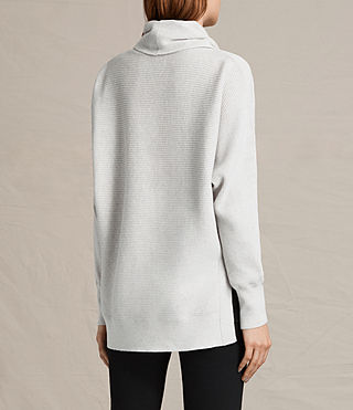 Womens Rio Roll Neck Sweater (Ash Grey) - product_image_alt_text_4