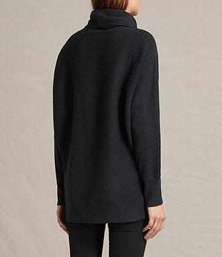 Womens Rio Roll Neck Sweater (Cinder Black Marl) - product_image_alt_text_4
