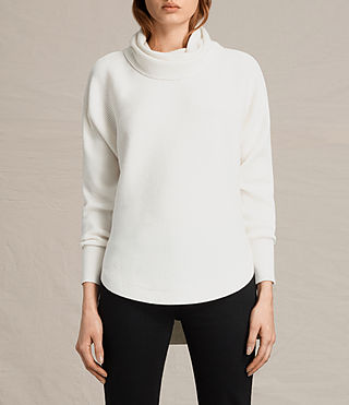 Damen Rio Roll Neck Jumper (Chalk White) -