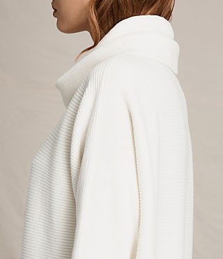 Damen Rio Roll Neck Jumper (Chalk White) - product_image_alt_text_2