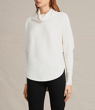 Damen Rio Roll Neck Jumper (Chalk White) - product_image_alt_text_3