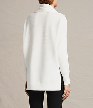 Damen Rio Roll Neck Jumper (Chalk White) - product_image_alt_text_4