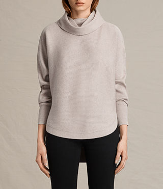 Womens Rio Roll Neck Sweater (QUARTZ PINK MARL)
