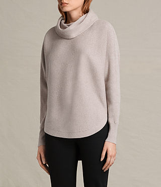 Mujer Rio Roll Neck Jumper (QUARTZ PINK MARL) - product_image_alt_text_3