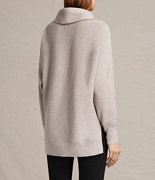 Mujer Rio Roll Neck Jumper (QUARTZ PINK MARL) - product_image_alt_text_4