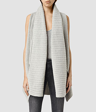 Womens Sefir Sleeveless Cardigan (MarbleGrey)